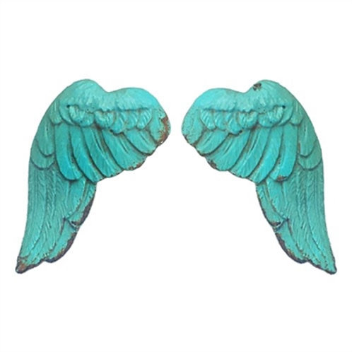 Turquoise Wing Drawer Pull
