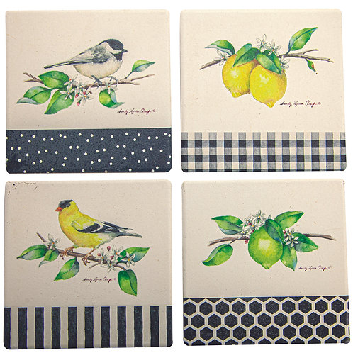 GROVE SONG ABSORBENT COASTERS (SET 4)