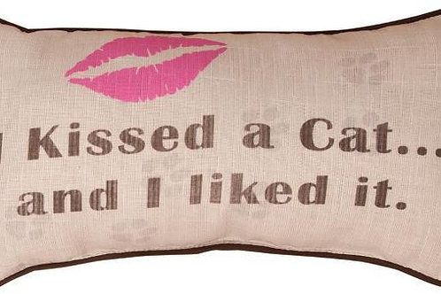 I KISSED A CAT PILLOW