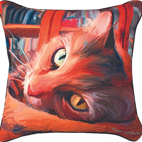 YELLOW CAT PILLOW