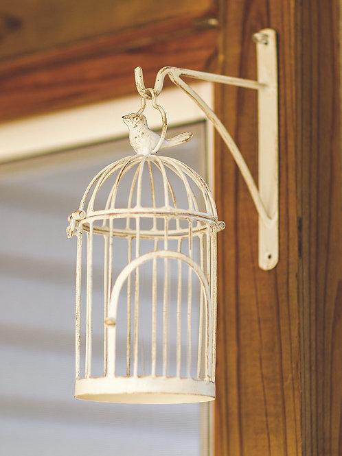 WALL HANGING BIRD CAGE WHITE