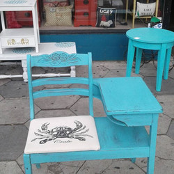 Vintage Telephone Table. Great for entry ways