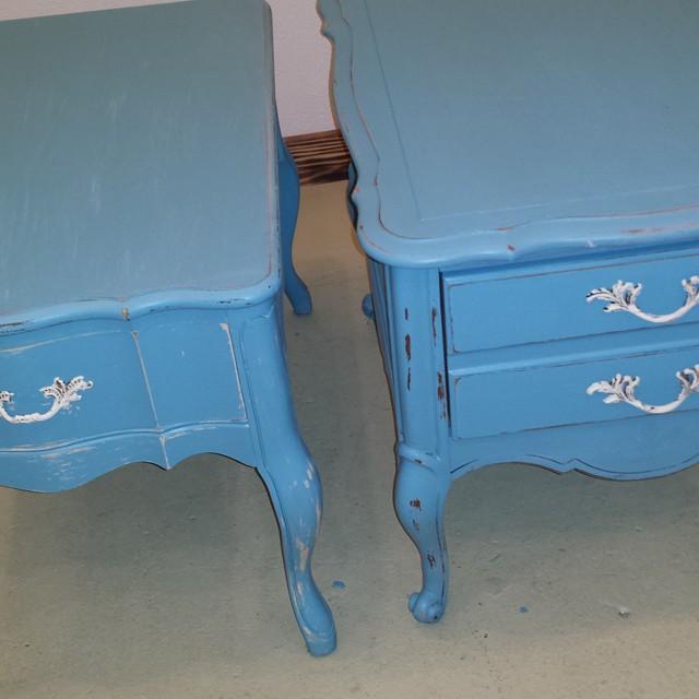 New Blue_#homedecor #blue #sidetable #600blockstpete #frenchprovincial