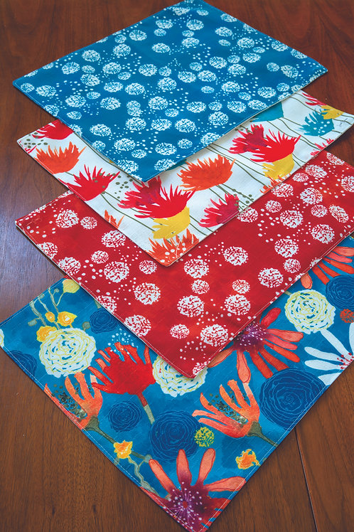 SUNBAKED FLORAL PLACEMATS SET OF 4