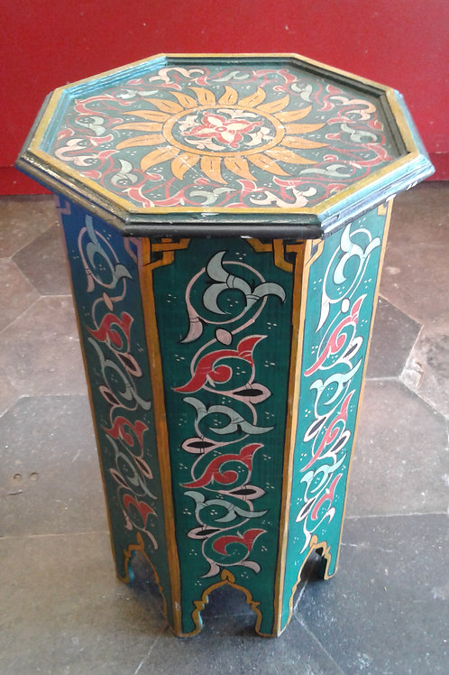 BOHO GREEN PAINTED TABLE