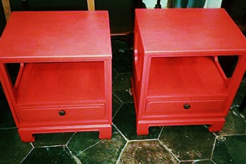 EASTERN FUSION PAIR OF SIDE TABLES