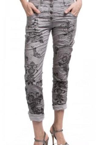 Grey Print Jean