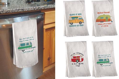 CAMPING HAND TOWELS SET OF 4