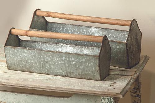 METAL TOOL BOX PLANTER (SET 2 AS SHOWN)