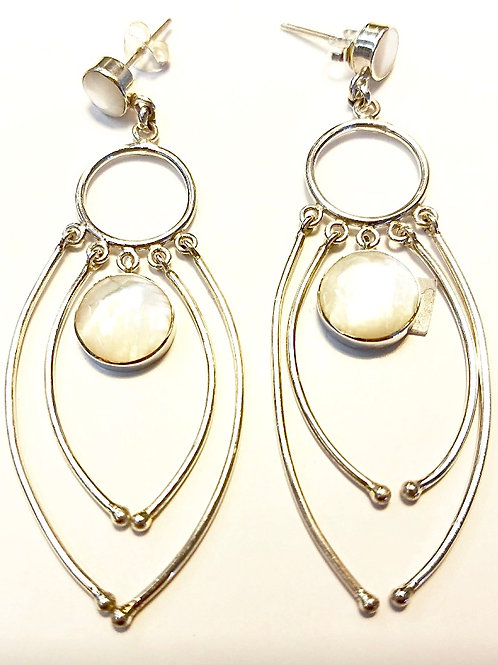 Sterling & Mother of Pearl Earrings