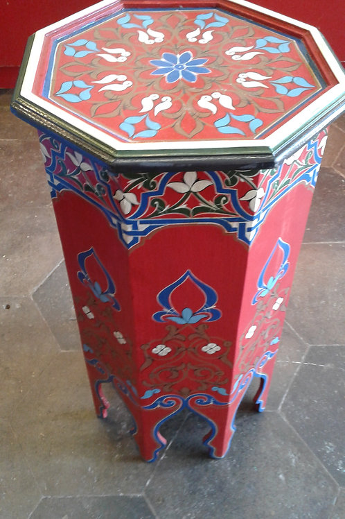 BOHO RED PAINTED TABLE