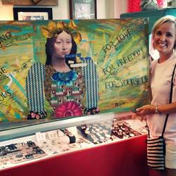 Another Happy Customer _Local Art by Emily Morgavan _#localart #whiteowlmarket #homedecor #paintedfu