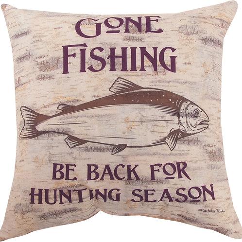 GONE FISHING PILLOW