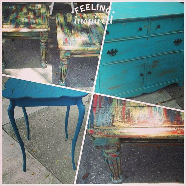 Get inspired with color_#paintedfurniture #home #homedecor #repurposed #redesigned #600blockstpete