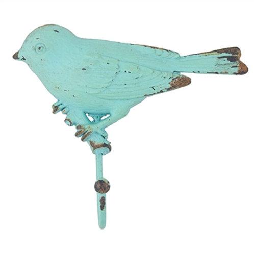 Turquoise Bird Wall Hook