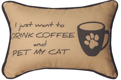 DRINK COFFEE/PET CAT