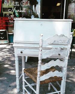 Fresh Linen White's _#summerwhites #neutrals #crispandclean #home #homedecor #secretarydesk #painted