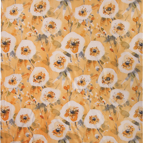 HAPPY YELLOW FLORAL THROW