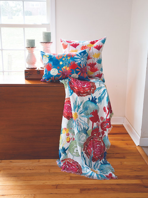 SUNBAKED FLORAL POLY THROW