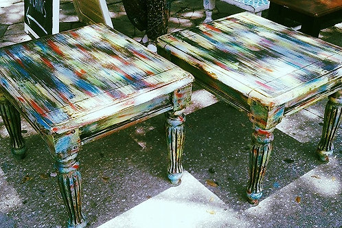 BOHO PAIR SIDE TABLES