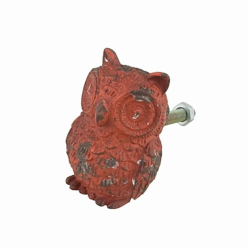 Red Owl Drawer Pull