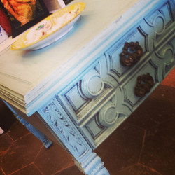 Beachy Blues Accent Table $55_#homedecor #furniture #iloveturquoise #igersstpete