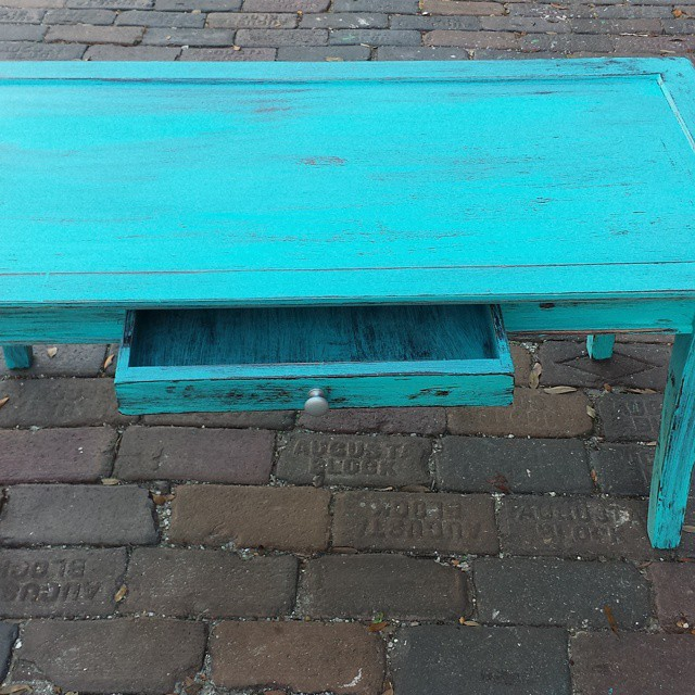 Turquoise coffee table