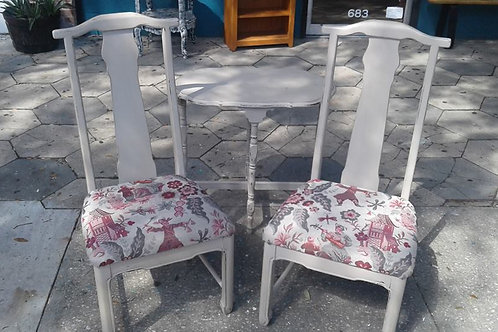 EASTERN FUSION PAIR OF CHAIRS