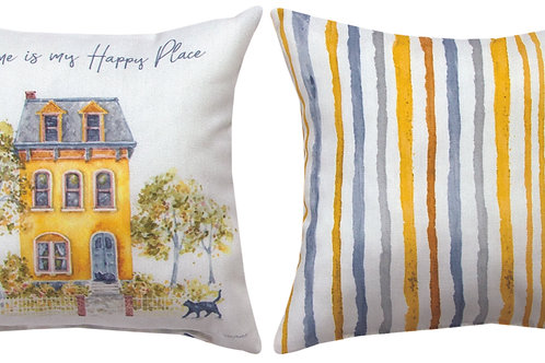 HAPPY PLACE YELLOW PILLOW