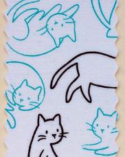 Katzen gezeichnet