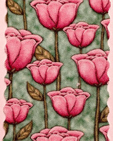 Tulpen auf grün