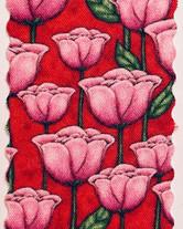 Tulpen auf rot