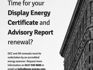 Check the expiry date on your Display Energy Certificate or Advisory Report!