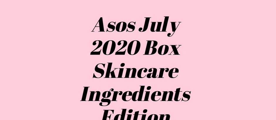 ASOS July 2020 Box - Skincare Ingredients edition