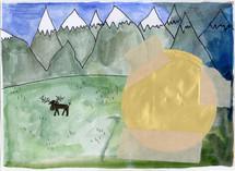 002-Landskap med gullskive