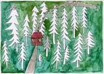 032-Hus i skogen