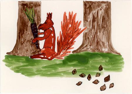 031-Et slags ekorn med svartrot