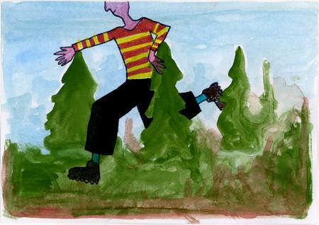 069-En ganske stor mann i skogen