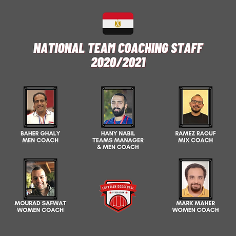 Egypt Dodgeball National Team Coaching staff