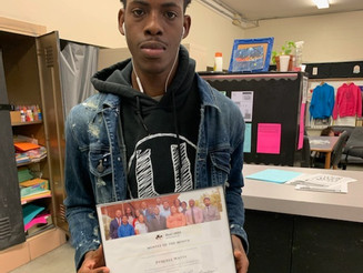 Mentee of the Month- Zyquell Watts