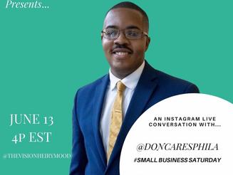 DonCARES Executive Director Donovan Forrest interviews on VisionHeiry Mood
