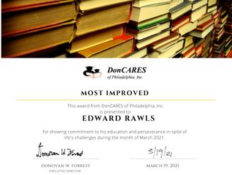 Most Improved: Edward Rawls