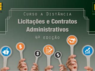 Inscrições abertas para 4ª edição do curso a distância sobre Licitações e Contratos Administrativos