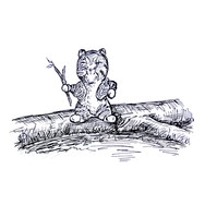 """""""Cat"""" In the style of E.H. Shepard"""
