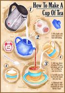 Tea Making Instructional Poster