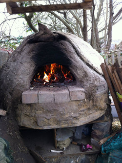 Pizza oven fire