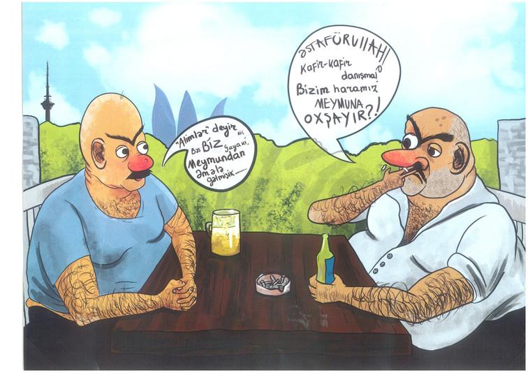 """Karikatura: """"Bizim müsəlmanlar"""""""