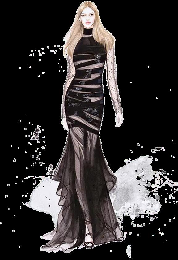 IMGBIN_drawing-dress-fashion-gown-illust