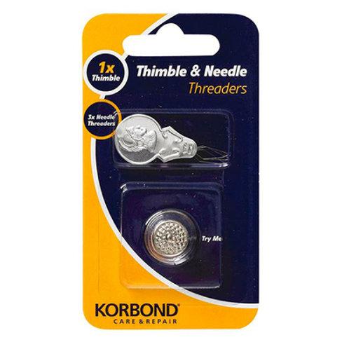 Korbond Thimble & Needle Threader