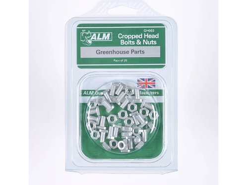 ALM Cropped Head Bolts & Nuts x20